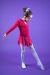 "Ballett Langarm Top ""Mia"" mit Twist, pink"