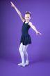"Ballett Trikot ""Minnie"" mit Chiffon Röckchen, marineblau"