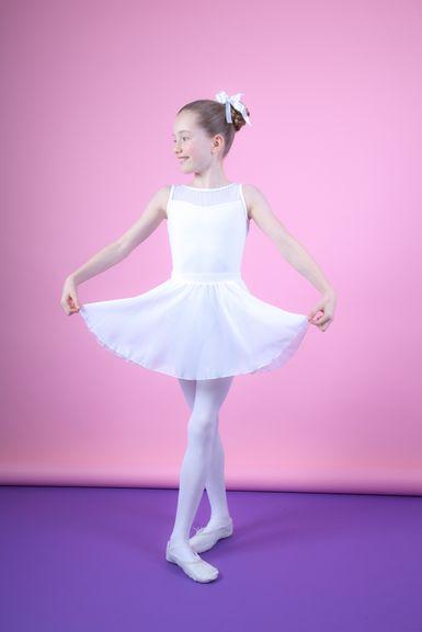 """Ballettrock """"Eva"""" zum Reinschlüpfen, eine Lage Chiffon, weiß"""