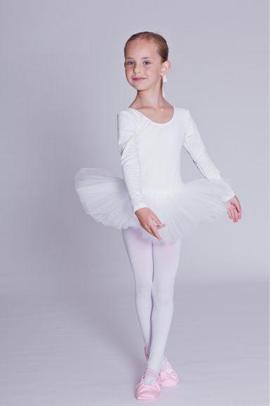 """Ballett Tutu """"Alea"""" mit langem Arm, weiß"""