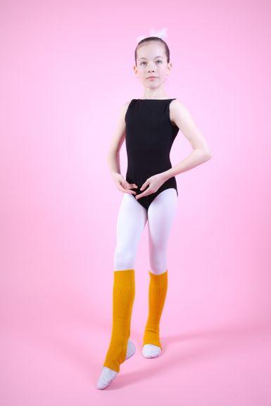 """Ballett Stulpen """"Leo"""" 40 cm, gelb"""