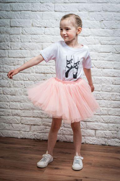 T-Shirt Ballettschuhe, weiß
