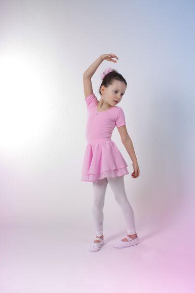 """Ballettrock """"Elli"""" mit Gummizug, zwei Lagen Chiffon, rosa"""