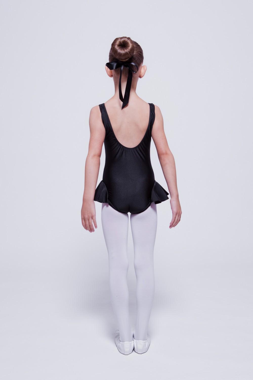 """Kinder Ballettkleid /""""Paula/"""" schwarz Ballettanzug Ballettbody Ballett Trikot"""