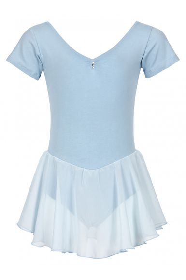 "Kurzarm Ballett Trikot ""Betty"" mit Chiffon Rock, hellblau"