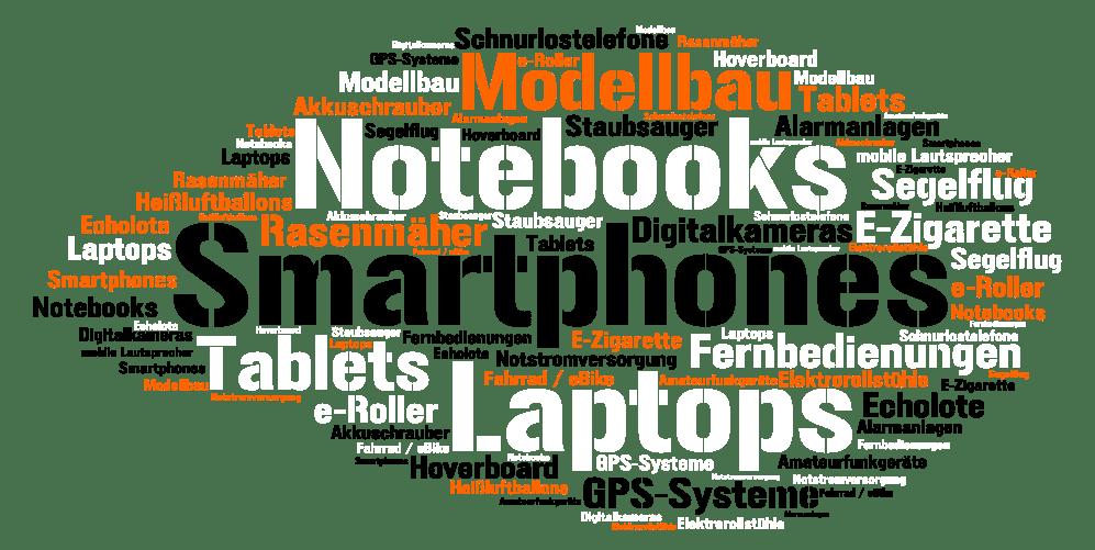 Akkus für Smartphones, Tablets, Energieversorgung, Energiespeicher, Navigationsgeräte und vieles mehr.