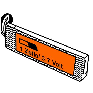 LiPo Akkus mit einer Zelle und 3,7 Volt