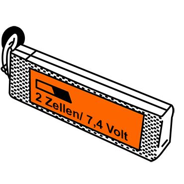 LiPo Akkus mit zwei Zellen und 7,4 Volt