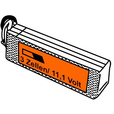 LiPo Akkus mit drei Zellen und 11,1 Volt