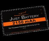 2150 mAh original JuBaTec Akku für Huawei Ascend G700 / G710