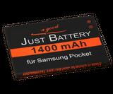 original JuBaTec Akku für Samsung Galaxy Y Pro GT-B5510 mit 1400 mAh ersetzt EB454357VU