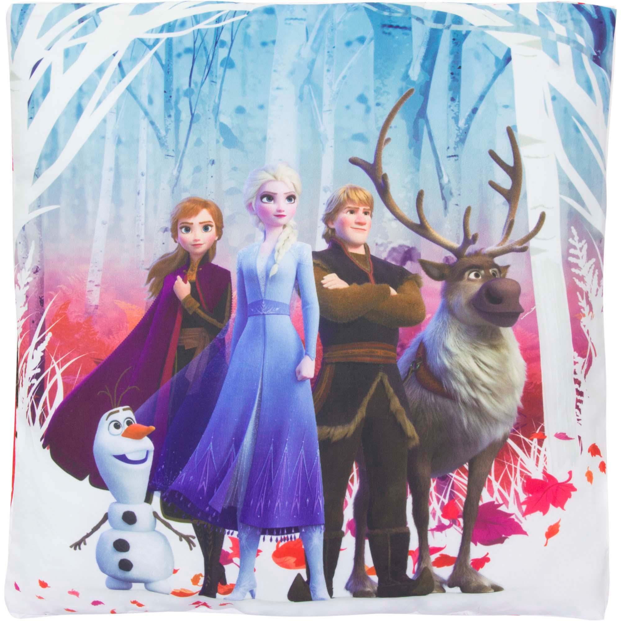 Die Eiskönigin Anna und Elsa Kuschel Kinder Kissen 40 x 40 cm Disney Frozen