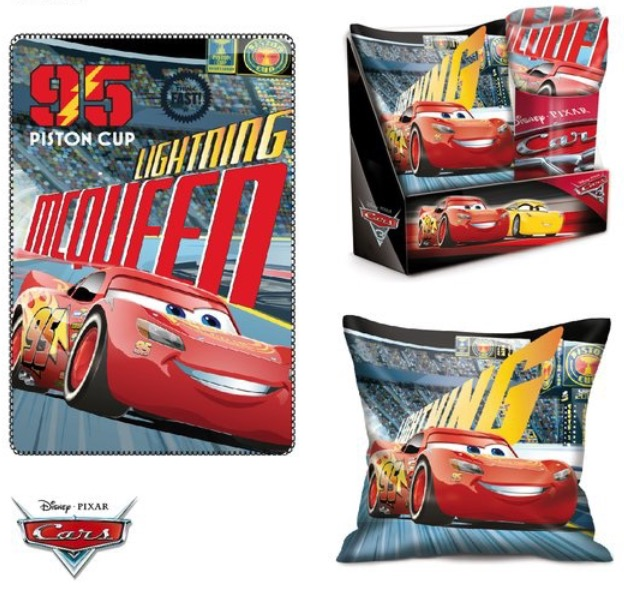 Disney Cars 3 Kissen /& Fleece-Decke SET NEU