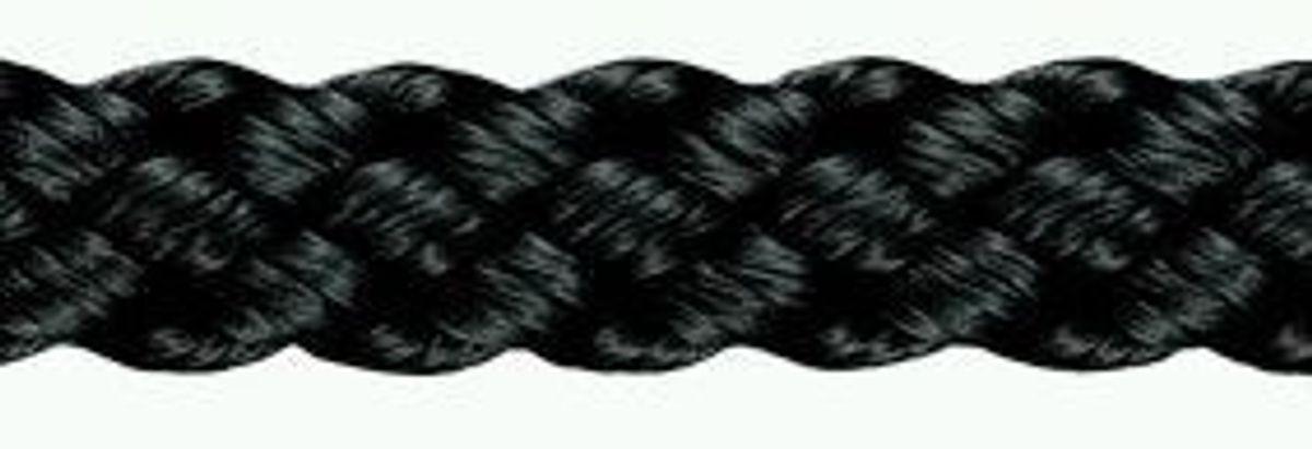 Kordel Polyamid geflochten, 3 mm ø, schwarz, 50m