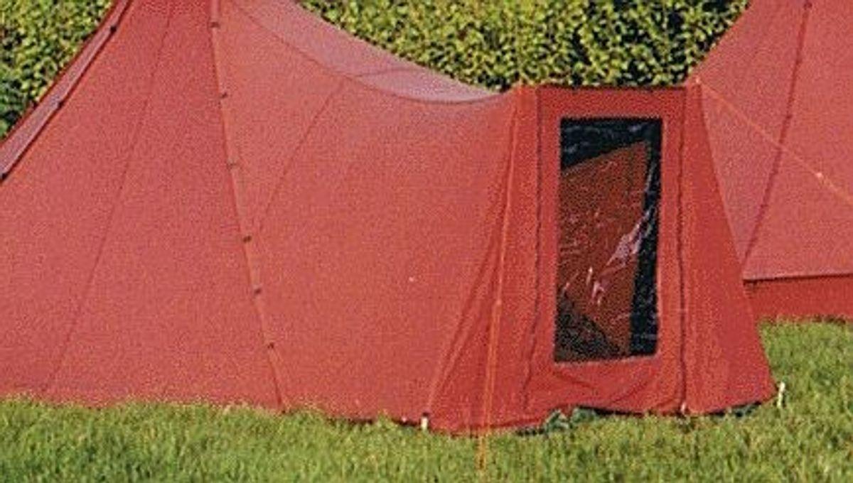 Kohten-Eingangsvorbau mit 2 Stützen, rot – Bild 1