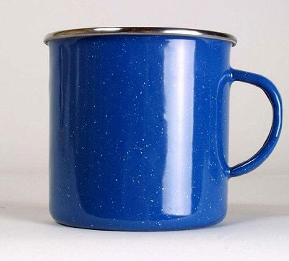 Relags Emaille Tasse, 530 ml, blau