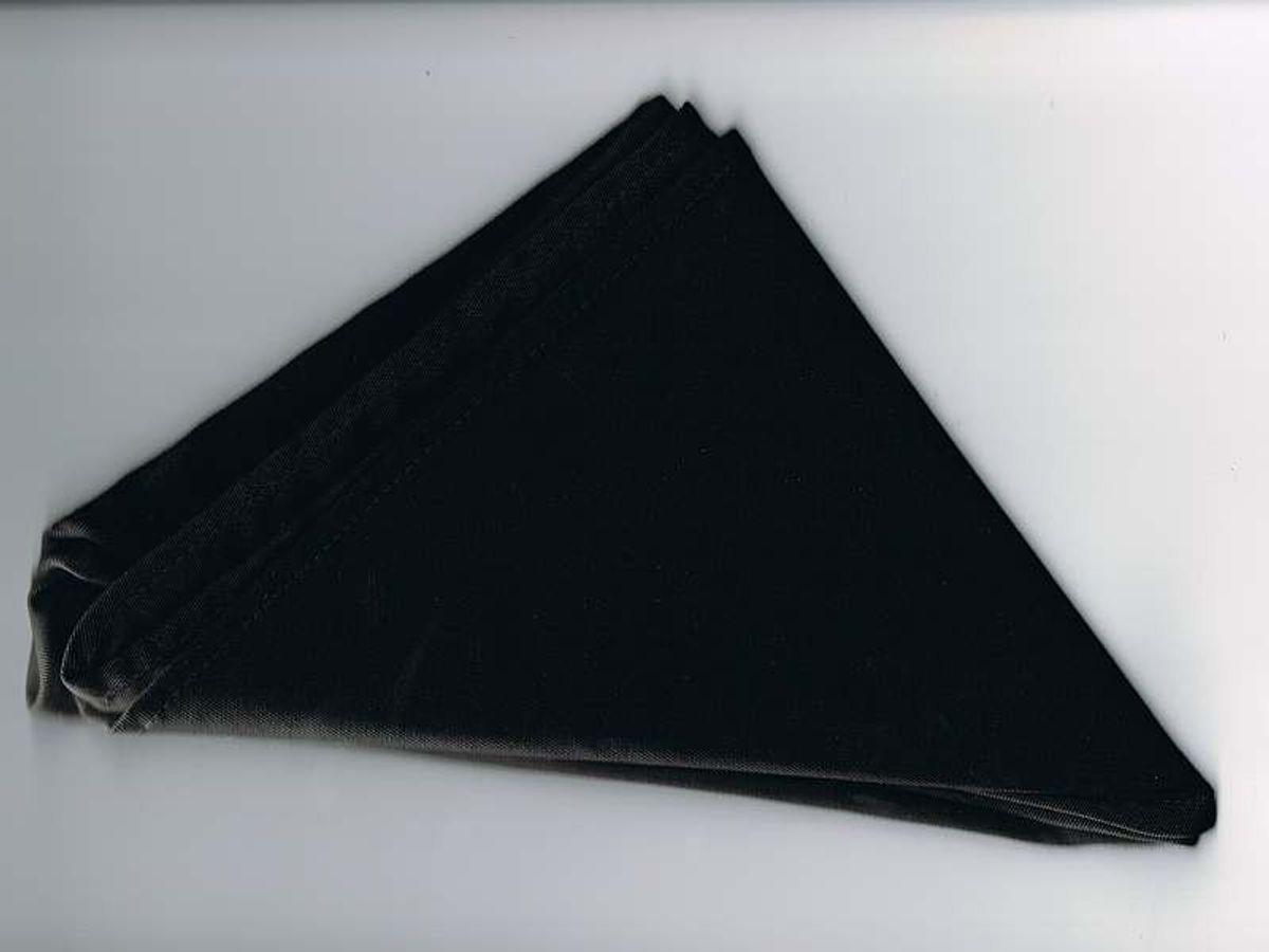 Halstuch / Dreiecktuch einfarbig schwarz, gesäumt