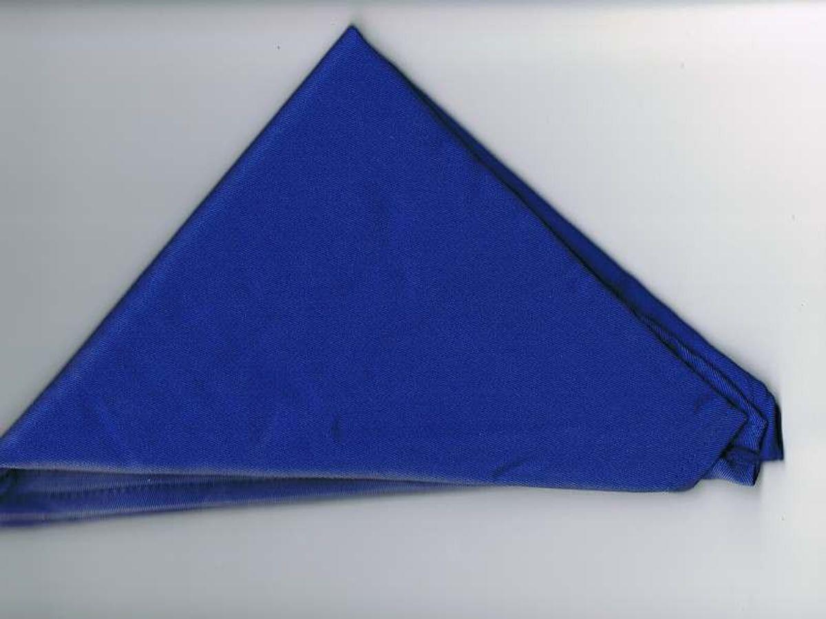 Halstuch / Dreiecktuch einfarbig blau, gesäumt