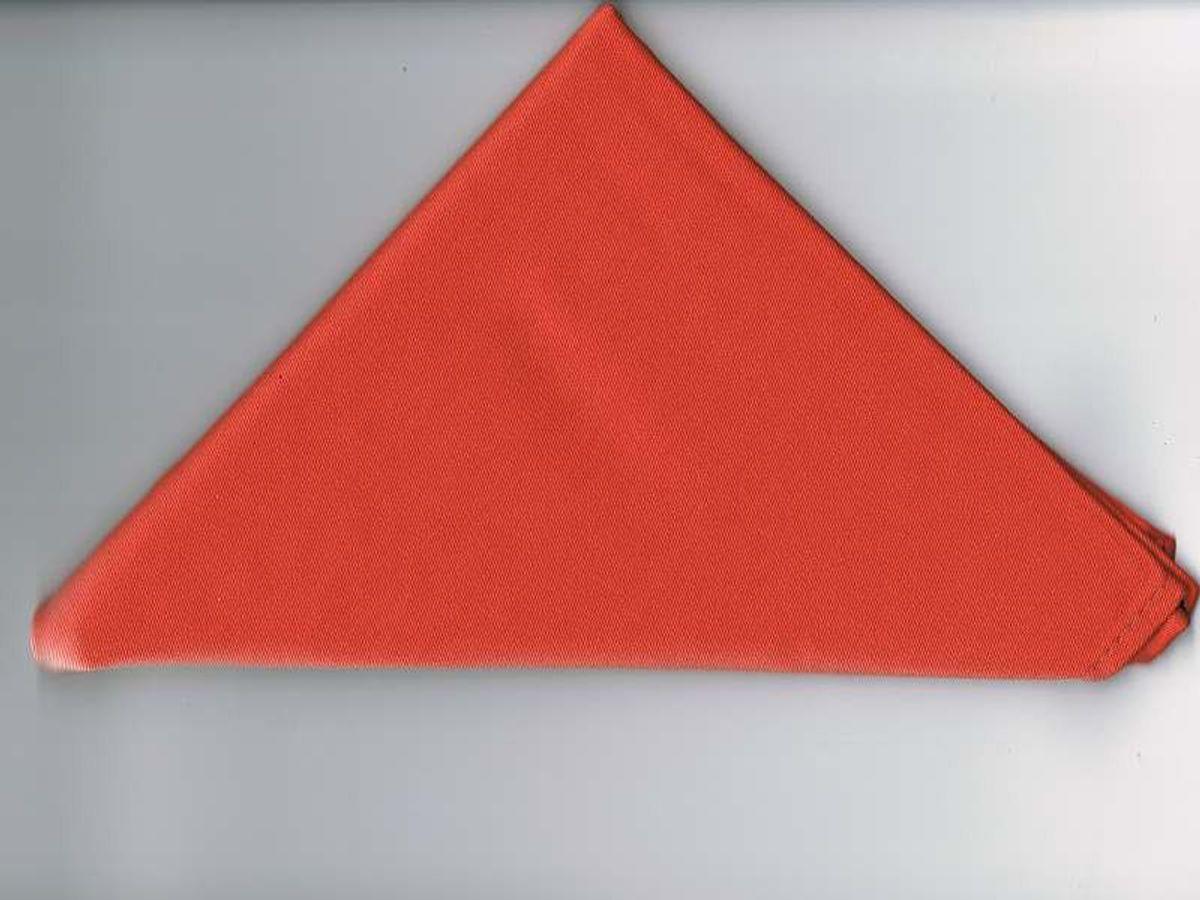 Halstuch / Dreiecktuch einfarbig orange, gesäumt