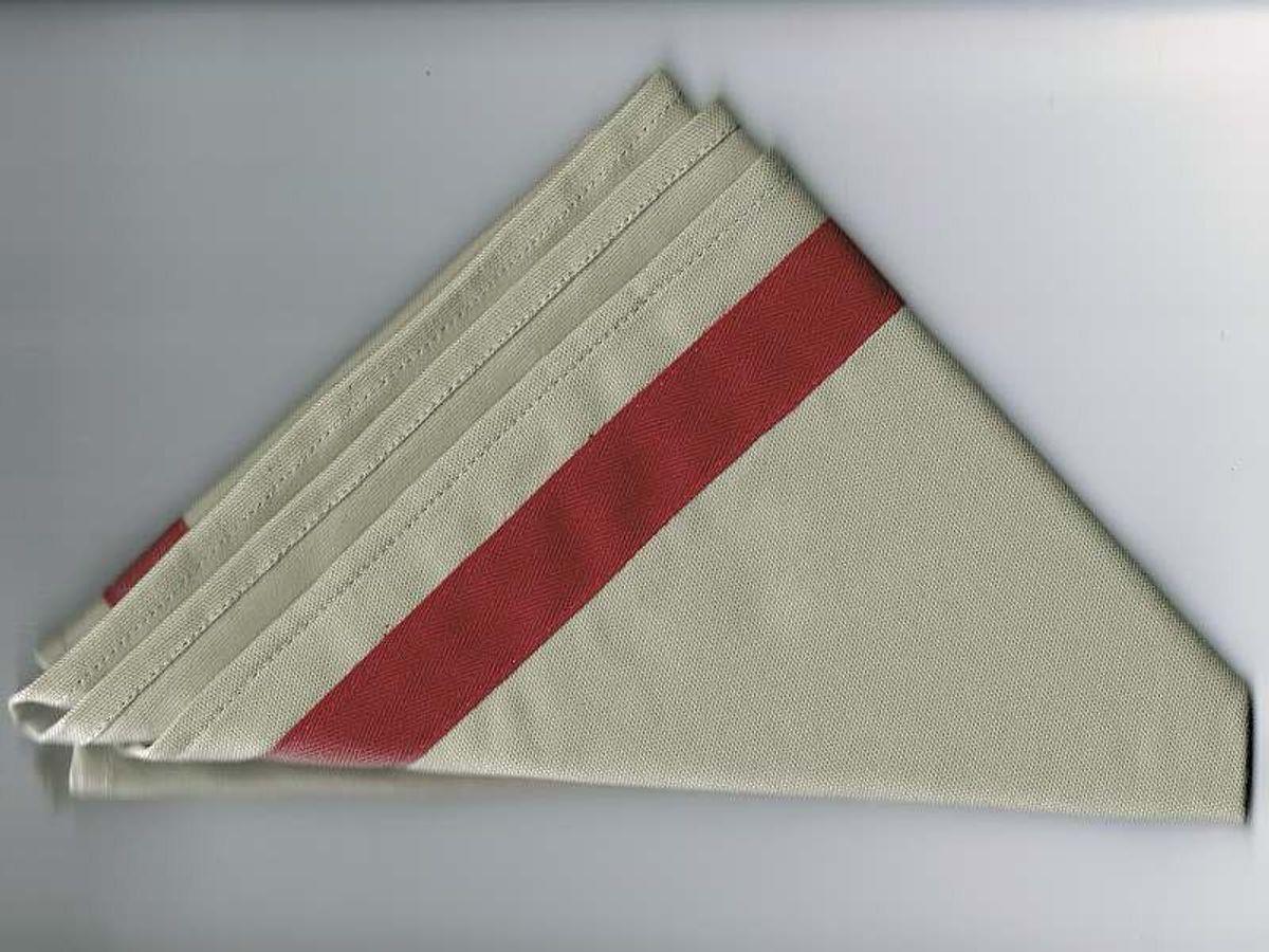 Halstuch / Dreiecktuch 2-farbig grau, bordeaux Streifen, gesäumt