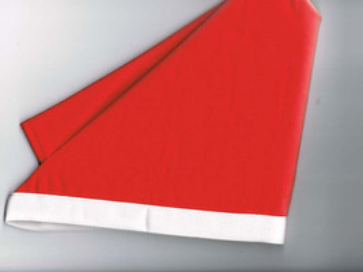 Halstuch / Dreiecktuch 2-farbig rot, weißer Rand