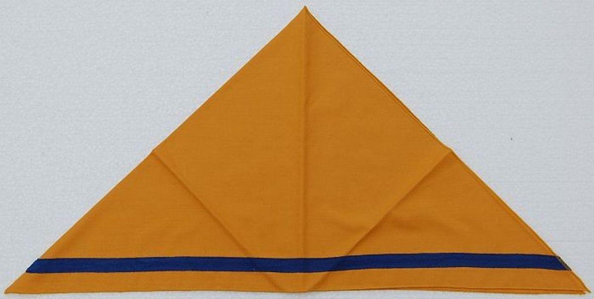 Halstuch / Dreiecktuch 2-farbig gelb/blauer Streifen, gesäumt