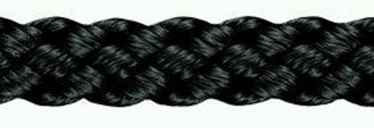 Kordel Polyamid geflochten, 8 mm ø,  schwarz, 50m