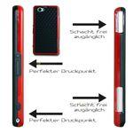 Hybrid Case für Sony Xperia Z1 Compact Hülle Case + Folie Bild 8