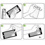 9x Displayschutzfolie für Samsung Galaxy S5 + Poliertuch 002