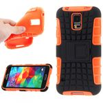 Hybrid Case 2teilig Robot Orange für Samsung Galaxy S5