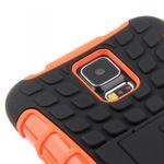Hybrid Case 2teilig Robot Orange für Samsung Galaxy S5 Bild 6