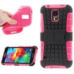 Hybrid Case 2teilig Robot Pink für Samsung Galaxy S5