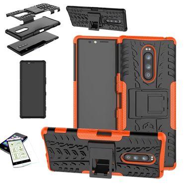 [Paket] Hybrid Case 2teilig Robot für verschiedene Sony Xperia Modelle