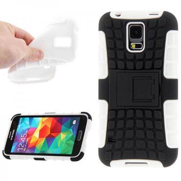 Hybrid Case 2teilig Robot Weiss für Samsung Galaxy S5 Mini