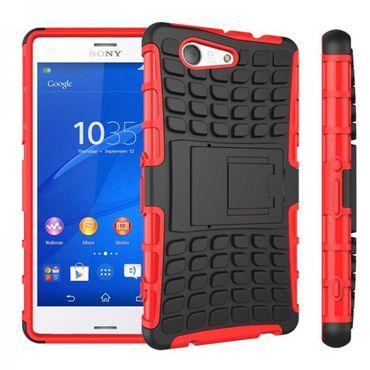 [Paket] Hybrid Case 2teilig Robot Rot für Sony Xperia Z3 Compact D5803 M55W