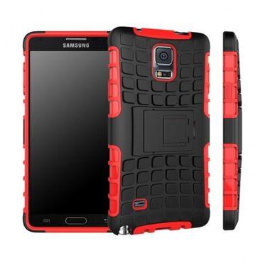 Hybrid Case 2teilig Robot Rot für Samsung Galaxy Note 4 SM-N910 SM-N910F