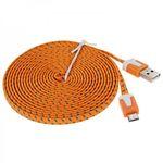 3m USB Daten und Ladekabel Orange für alle Smartphone und Tablet Micro USB Bild 4
