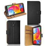 Wallet Deluxe Tasche Schwarz für Samsung Galaxy Note 4 N910 SM-N910F