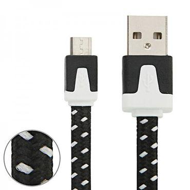 [Paket] 1m USB Daten und Ladekabel Schwarz für alle Smartphone und Tablet Micro USB