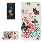 Tasche Wallet Premium Muster 2 für Huawei Ascend P8 Lite
