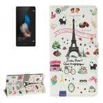 Tasche Wallet Premium Muster 43 für Huawei Ascend P8 Lite