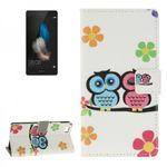 Tasche Wallet Premium Muster 45 für Huawei Ascend P8 Lite