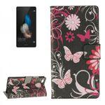 Tasche Wallet Premium Muster 4 für Huawei Ascend P8 Lite