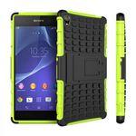 Hybrid Case 2teilig Grün für Sony Xperia Z3 Plus E6553 / Dual + Hartglas Bild 2