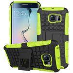 Hybrid Case 2teilig Robot Grün für Samsung Galaxy S6 Edge Plus SM-G928 F