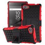 Hybrid Case 2teilig Rot für Sony Xperia Z5 Compact Mini 4.6 Zoll + Hartglas Bild 2