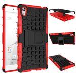 Hybrid Case 2teilig Rot für Sony Xperia Z5 Premium 5.5 Zoll + Hartglas Bild 2
