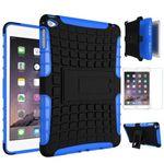 Hybrid Outdoor Schutzhülle Blau für iPad Mini 4 Tasche + 0.3 H9 Hartglas