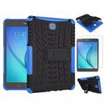 Hybrid Outdoor Tasche Blau für Samsung Galaxy Tab A 9.7 T550 + 0.4 Hartglas