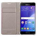 Samsung Flip Wallet Tasche Hülle Kunstleder EF-WA310 für Galaxy A3 2016 Gold NEU Bild 4
